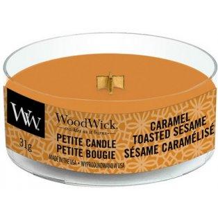 Woodwick svíčka - petite/Caramel Toasted Sesame
