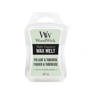 Woodwick svíčka - vosk/Fig Leaf & Tuberose 04/20