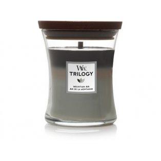 Woodwick svíčka - Trilogy sklo střední/Mountain Air