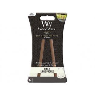 Woodwick náhradní vonné tyčinky do auta Linen