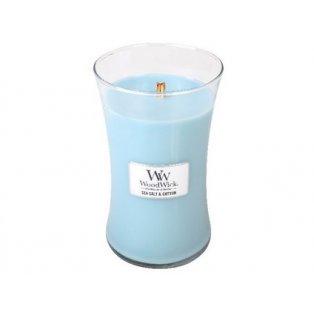Woodwick svíčka - sklo velké/Sea Salt & Cotton