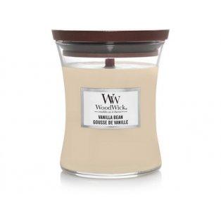 Woodwick svíčka - sklo střední/Vanilla Bean 05/20;03/21