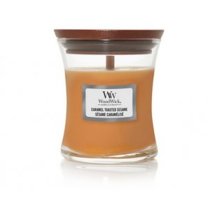 Woodwick svíčka - sklo malé/Caramel Toasted Sesame