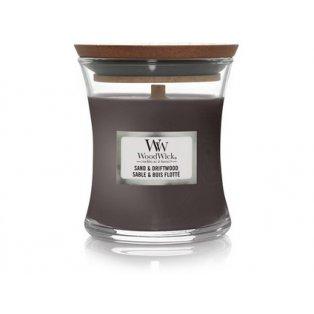 Woodwick svíčka - sklo malé/Sand & Driftwood 07/19;07/20;05/21