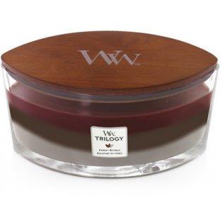 Woodwick svíčka - Trilogy loď/Forest Retreat