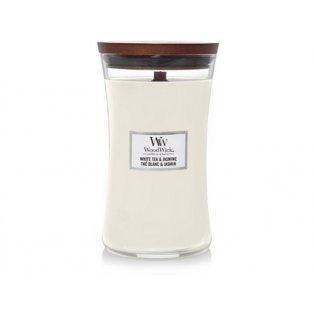 WOODWICK - WHITE TEA & JASMINE - velké sklo - 1 ks