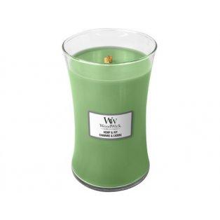 WoodWick Hemp & Ivy svíčka velká