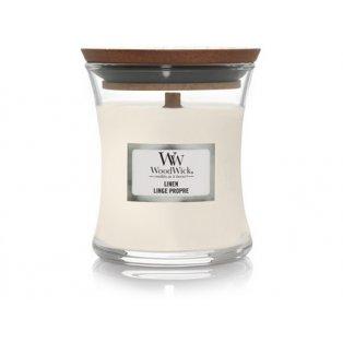 Woodwick svíčka - sklo malé/Linen 02/19;10/20