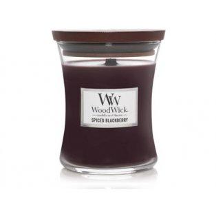 Woodwick svíčka - sklo střední/Spiced Blackberry 12/18
