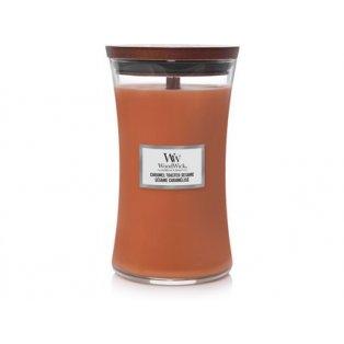 Woodwick svíčka - sklo velké/Caramel Toasted Sesame
