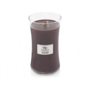 Woodwick svíčka - sklo velké/Suede & Sandalwood