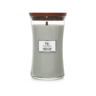 Woodwick Lavender & Cedar svíčka velká