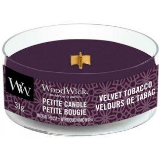 WoodWick Velvet Tobacco svíčka petite