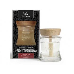 Woodwick svíčka - Spill-Proof difuzér/Cinnamon Chai