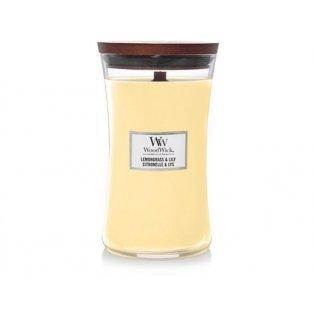 Woodwick svíčka - sklo velké/Lemongrass & Lily 06/19