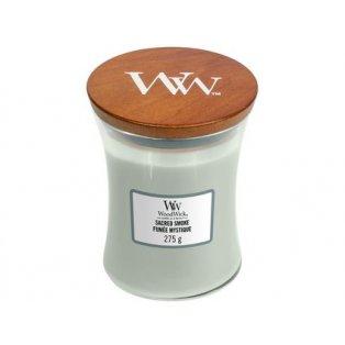 Woodwick svíčka - sklo střední/Sacred Smoke 01/21