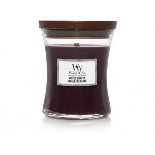 Woodwick svíčka - sklo střední/Velvet Tobacco