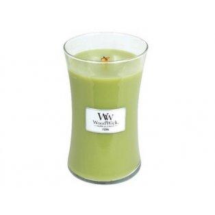 Woodwick svíčka - sklo velké/Fern 04/19