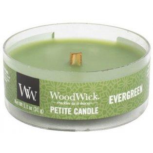 Woodwick svíčka - petite/Evergreen 10/18