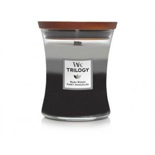 Woodwick svíčka - Trilogy sklo střední/Warm Woods