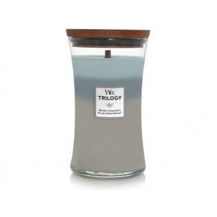 Woodwick svíčka - Trilogy sklo velké/Woven Comforts