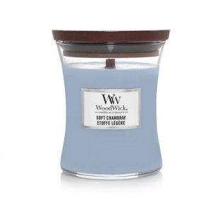 Woodwick svíčka - sklo střední/Soft Chambray 08/18;09/19;01/20