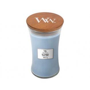 Woodwick svíčka - sklo velké/Soft Chambray 08/18;09/19;01/20