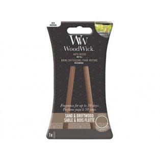 Woodwick svíčka - Auto Reeds náplň/Sand & Dritwood