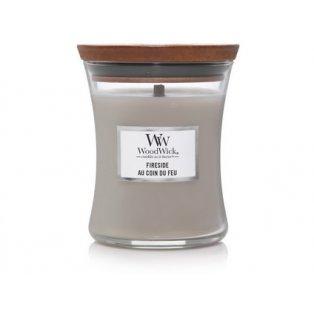 Woodwick svíčka - sklo střední/Fireside 11/18;03/20;10/20