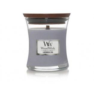 Woodwick svíčka - sklo malé/Lavender Spa 01/21