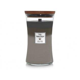 Woodwick svíčka - Trilogy sklo velké/Cozy Cabin