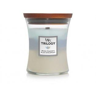 Woodwick svíčka - Trilogy sklo střední/Woven Comforts