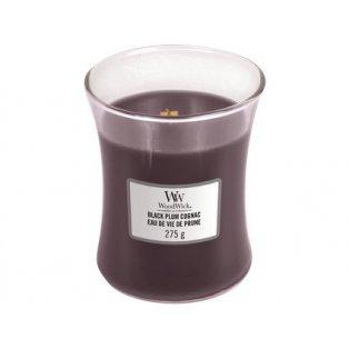 Woodwick svíčka - sklo střední/Black Plum Cognac