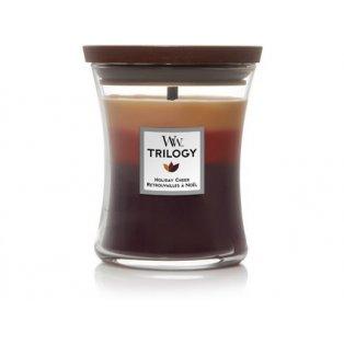 Woodwick svíčka - Trilogy sklo střední/Holiday Cheer