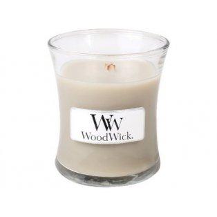 Woodwick svíčka - sklo malé/Wood Smoke 10/18;11/20;03/21