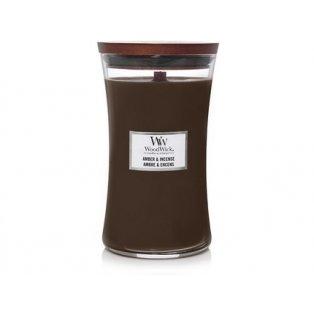 Woodwick svíčka - sklo velké/Amber & incense 10/19