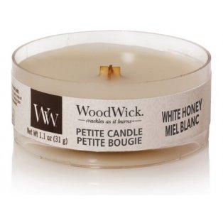 Woodwick svíčka - petite/White Honey 11/20;04/21;09/21