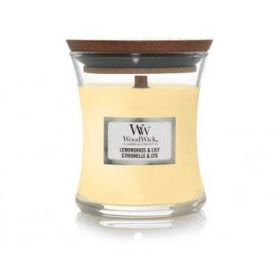Woodwick svíčka - sklo malé/Lemongrass & Lily 06/19