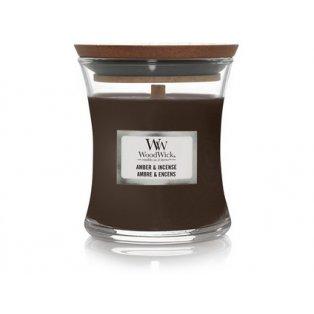 Woodwick svíčka - sklo malé/Amber & incense 10/19