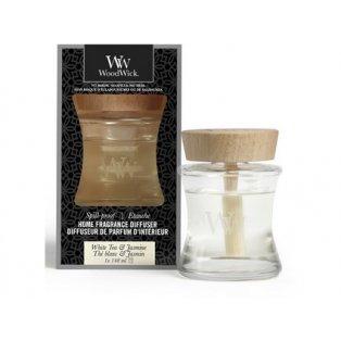 Woodwick svíčka - Spill-Proof difuzér/White Tea & Jasmine