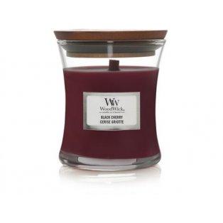 Woodwick svíčka - sklo malé/Black Cherry 10/19