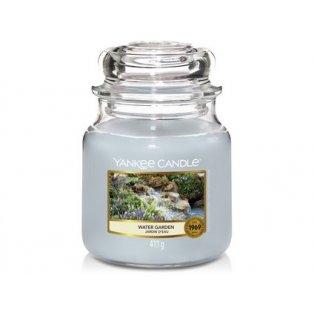 YANKEE CANDLE - WATER GARDEN - vonná svíčka - classic střední - 1 ks