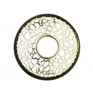 YANKEE CANDLE - MATRIX BRUSHED SILVER - Illuma lid - ozdobný prstenec - 1 ks