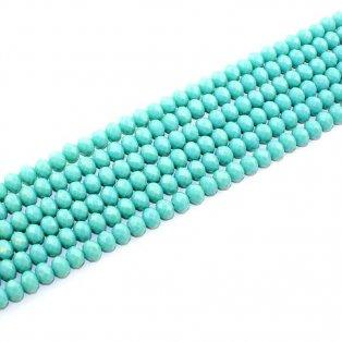 Broušené korálky - mořská zeleň - 8 x 6 mm - 10 ks