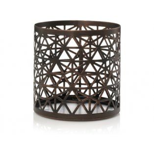 YANKEE CANDLE - BELMONT BRONZE PUNCHED METAL - svícen na svíčku - 1 ks
