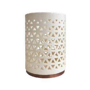 YANKEE CANDLE - BELMONT LATTICE CERAMIC WITH METAL BASE - keramický svícen na svíčku - 1 ks