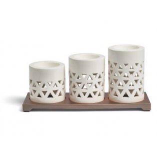 YANKEE CANDLE - BELMONT - sada 3 svícnů na čajovou svíčku - 1 ks