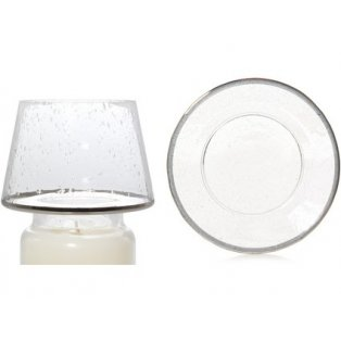 YANKEE CANDLE - KENSINGTON METALLIC BAND ON SEEDED GLASS - velké stínítko + velký talíř - 1 ks