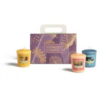 YANKEE CANDLE - dárková sada - 3 votivní svíčky - 1 ks