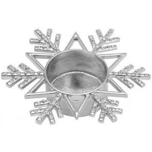 YANKEE CANDLE - TWINKLING SNOWFLAKE - svícen na čajovou svíčku - 1 ks